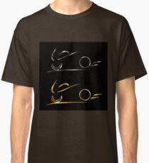 Abstract drawing of motorbike  Classic T-Shirt