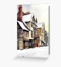 Old Tudor buildings. Greeting Card