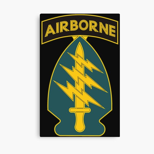 1st Special Forces Command (Airborne) Insignia Canvas Print