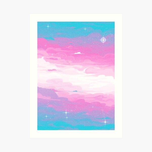 Pride Skies (Trans) Art Print