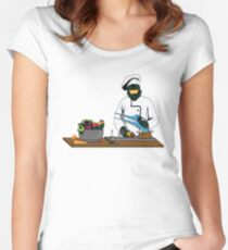 Master Chief / Chef ? Women's Fitted Scoop T-Shirt