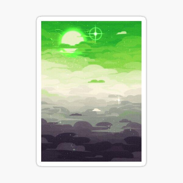 Pride Skies (Aro) Sticker