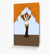Cute Auburn Haired Bellydancer Greeting Card