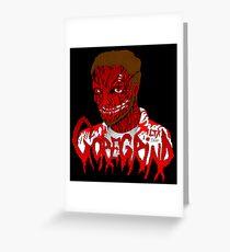 Goregrind Face Melt Greeting Card