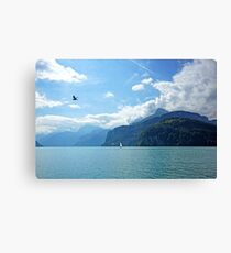 Flying High Sailing By Canvas Print