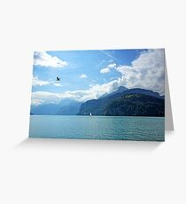 Flying High Sailing By Greeting Card