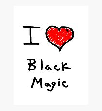 i love halloween black magic  Photographic Print