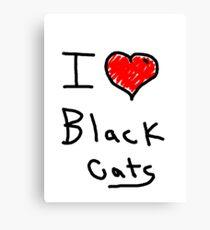 i love halloween black cats Canvas Print