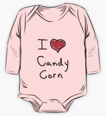 i love halloween candy corn  One Piece - Long Sleeve