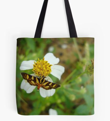 Syngamia florella:  A  DAY FLYING MICROMOTH Tote Bag