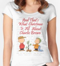 And That's What Christmas Is All About Charlie Brown Women's Fitted Scoop T-Shirt