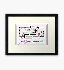 Breakfast at Tiffany's Apartment Floorplan v2 Framed Print