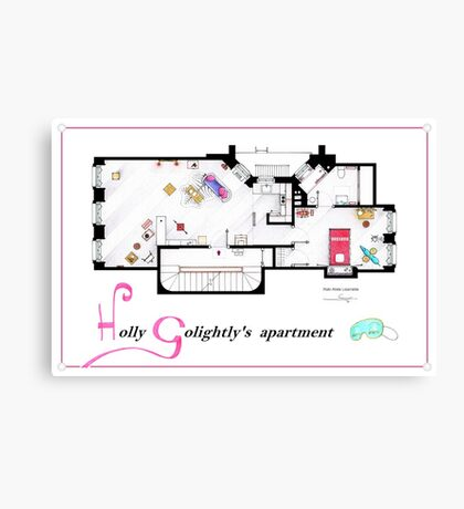 Breakfast at Tiffany's Apartment Floorplan v2 Canvas Print