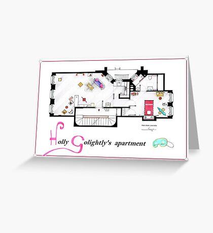 Breakfast at Tiffany's Apartment Floorplan v2 Greeting Card