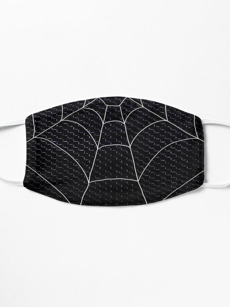 Alternate view of Spider Web BLACK mesh Mask