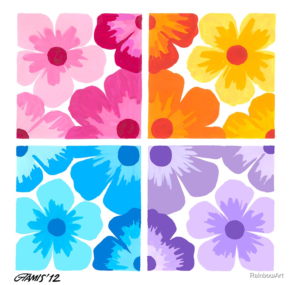 SMOOTH PAINTED FLOWERS by RainbowArt