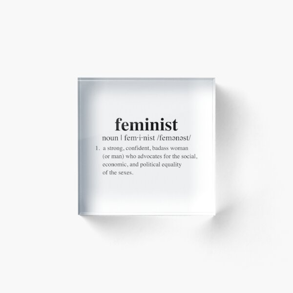 BADASS feminist definition Acrylic Block