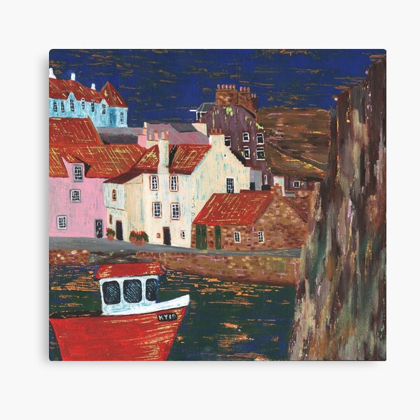 Pittenweem Harbour 6 Canvas Print