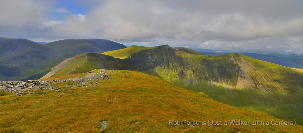 The Lake District: Heading to Hopegill Head by Robert Parsons