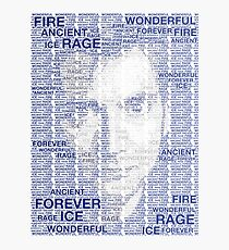 Dr Who 10th David Tennant Typography Photographic Print