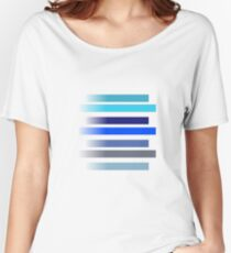 Blue Stripes Women's Relaxed Fit T-Shirt