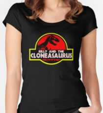 Billy and the cloneasaurus - The Simpsons Cartoon Women's Fitted Scoop T-Shirt