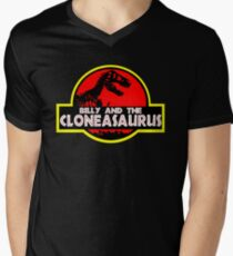Billy and the cloneasaurus - The Simpsons Cartoon Men's V-Neck T-Shirt