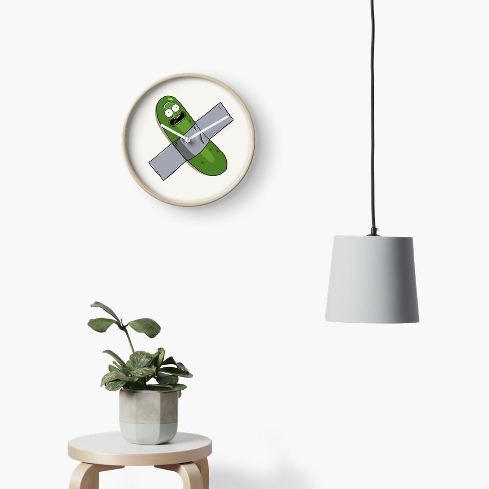 Pickle Rick Modern Art Happy Version - Rick and Morty Fan Art Clock