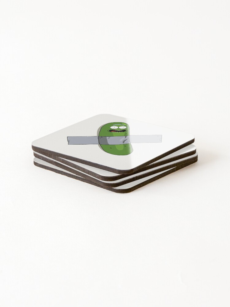 Alternate view of Pickle Rick Modern Art Happy Version - Rick and Morty Fan Art Coasters (Set of 4)