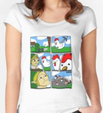 Cucco Wars Women's Fitted Scoop T-Shirt
