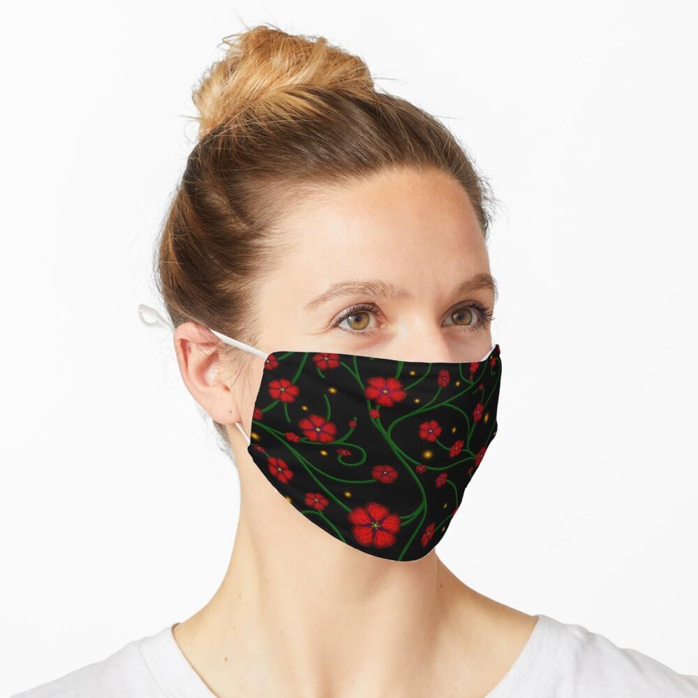 Ruby Flowers, Emerald Vines Mask