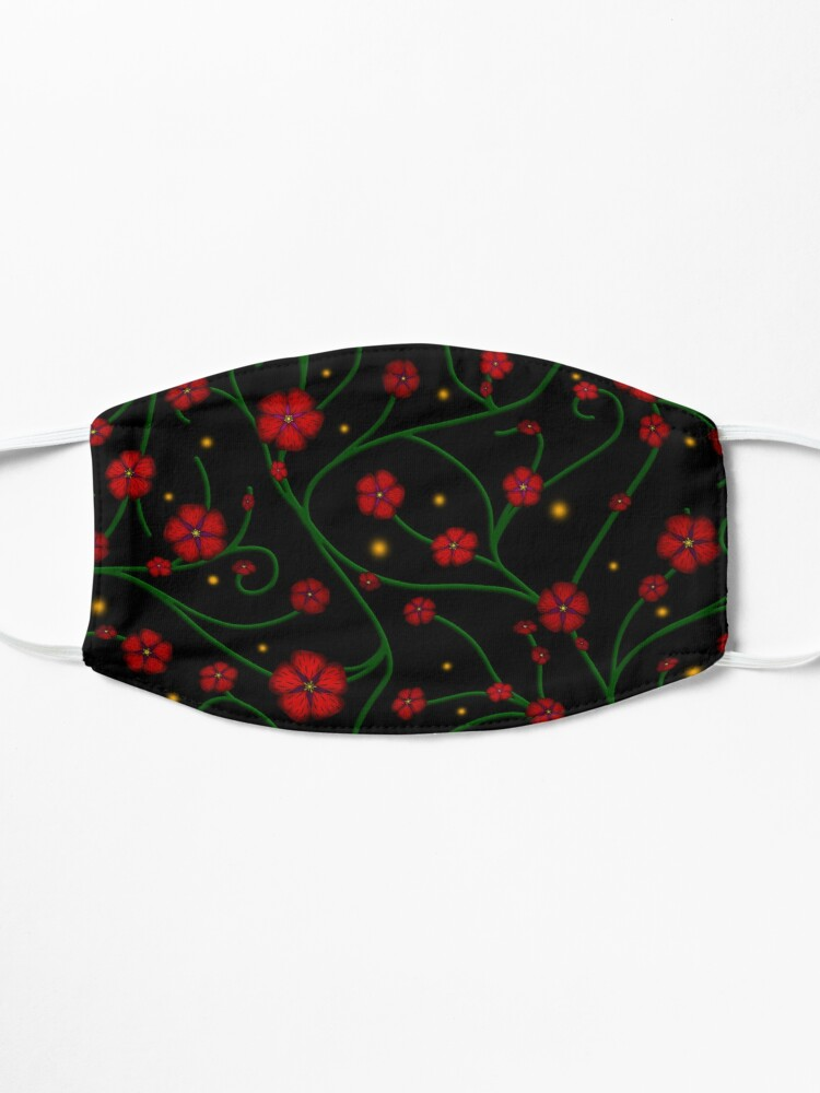 Alternate view of Ruby Flowers, Emerald Vines Mask