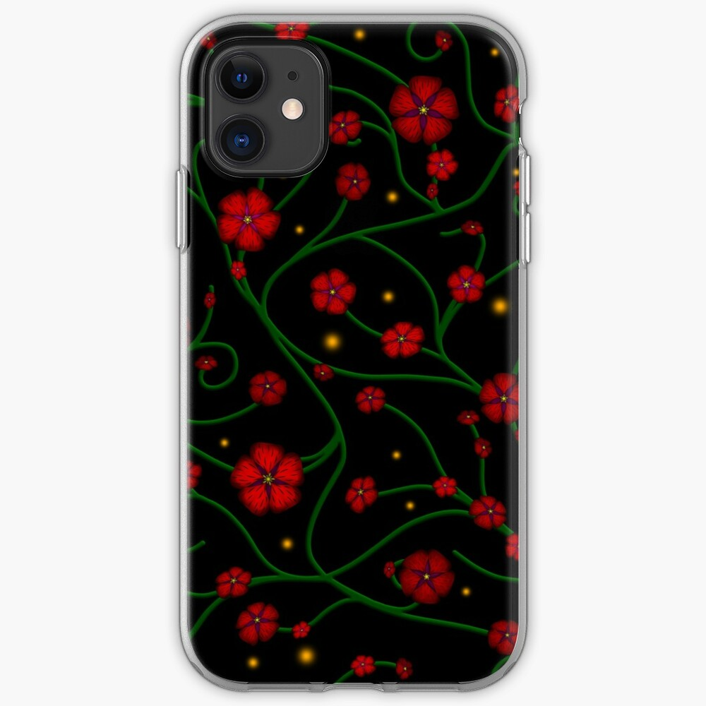 Ruby Flowers, Emerald Vines iPhone Case & Cover