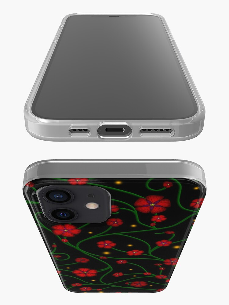 Alternate view of Ruby Flowers, Emerald Vines iPhone Case & Cover