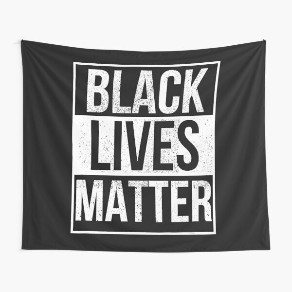 Distressed Black Lives Matter Tapestry