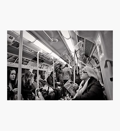 Riding the Tube - London - Britain Photographic Print