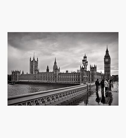Walking to Westminster - London - Britain Photographic Print