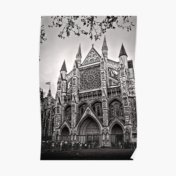 Dampened Faithful - Westminster - London - Britain Poster