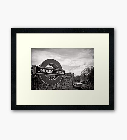 Underground below - London - Britain Framed Print