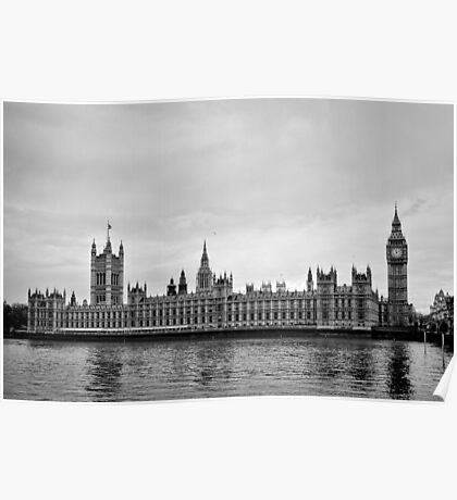 Houses with a view of the water - London - Britain Poster