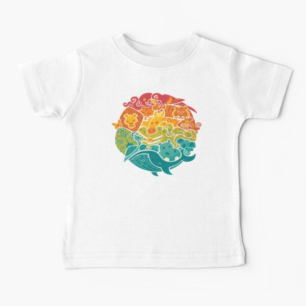 Animal Rainbow - cream Baby T-Shirt