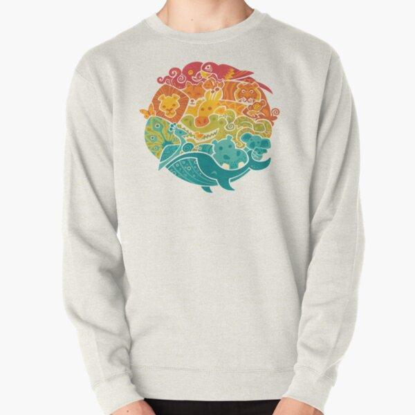 Animal Rainbow - cream Pullover Sweatshirt