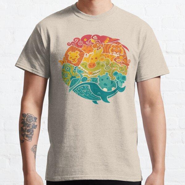 Animal Rainbow - cream Classic T-Shirt