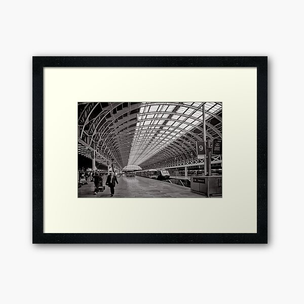 Paddington Platform 9 - London - Britain Framed Art Print