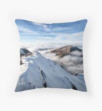 Schilthorn's Sea of Clouds Throw Pillow