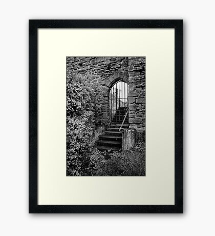Sneak in the back entrance - Kenilworth - Britain Framed Print