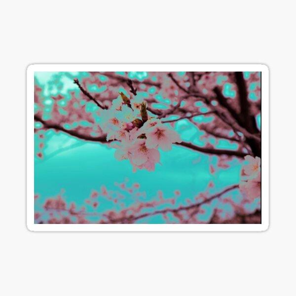 Neon Sakura Sticker