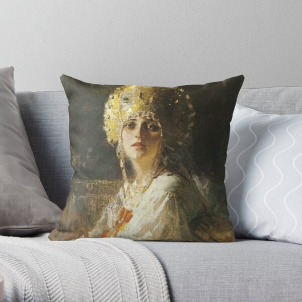 19th-century Russian paintings Throw Pillow