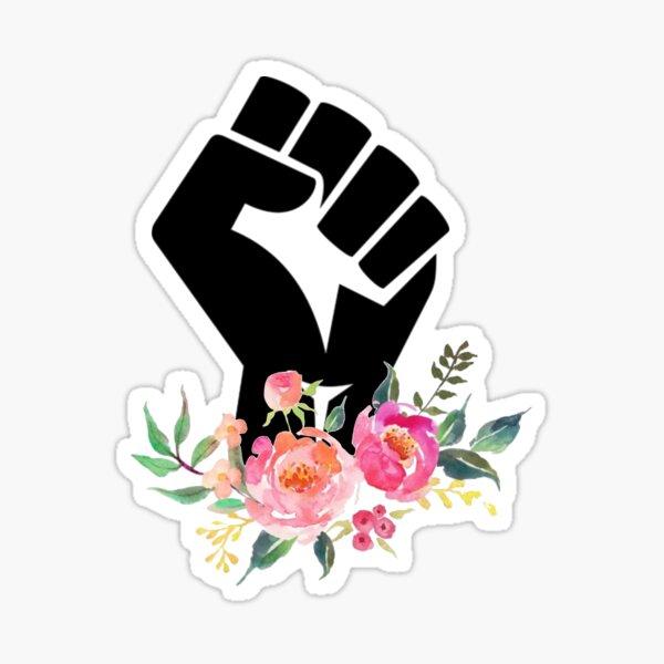 Black Flower –100% of profits donated Sticker