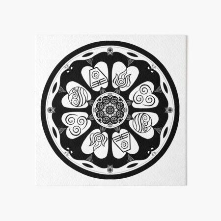 Ornate White Lotus Tile Art Board Print